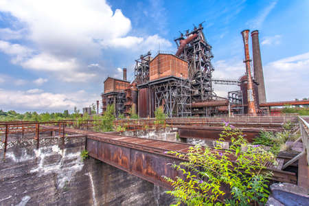 ruhr: Landschaftspark Duisburg-Nord, former steelworks  industry monument in Duisburg Ruhr Area Germany Stock Photo
