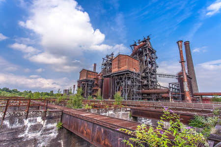 steelworks: Landschaftspark Duisburg-Nord, former steelworks  industry monument in Duisburg Ruhr Area Germany Stock Photo