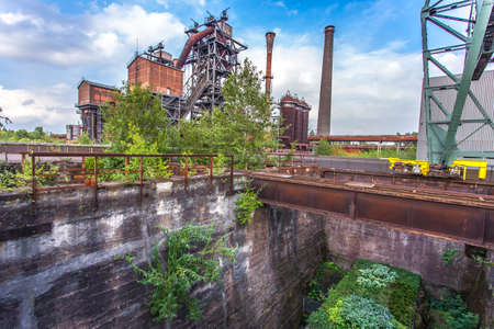steelworks: Landschaftspark Duisburg-Nord, former steelworks  industry and Nature Duisburg Ruhr Area Germany