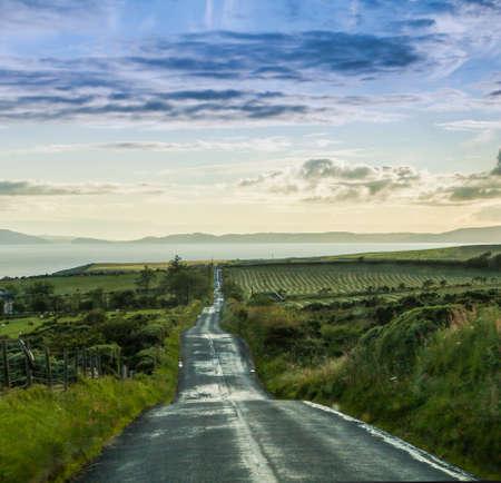endless: Endless road through Scottish highlands landscape