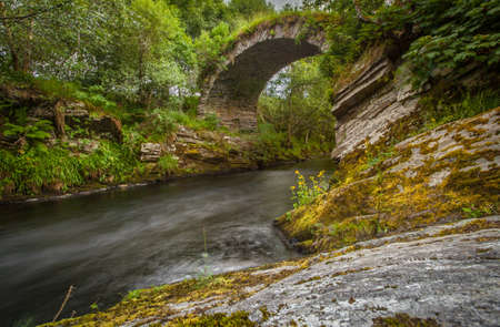 old packhorse bridge: Packhorse historic Arched Bridge Ballindalloch Highlands scotland