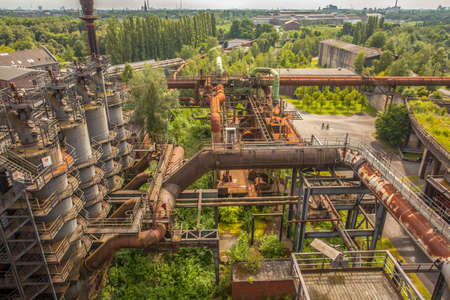 Landschaftspark Duisburg-Nord former steelworks industry monument in Duisburg Ruhr Area Germany