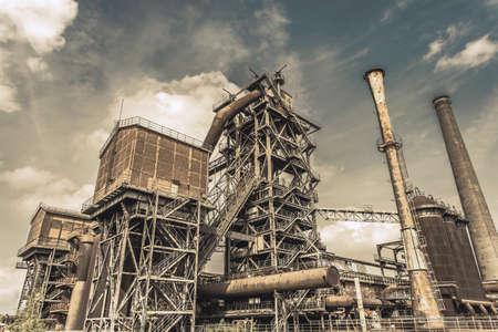 ruhr: Landschaftspark Duisburg-Nord former steelworks industry monument in Duisburg Ruhr Area Germany