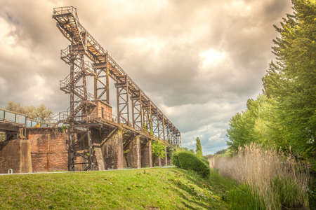 abandoned factory: Landscape Park Duisburg North Industrial Culture park Germany