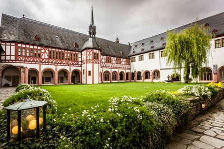 View of the monastery Eberbach cloister Eltville am Rhein Rheingau Hessen Germany Editorial