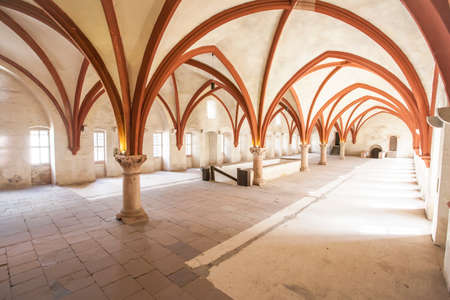 Dormitorium im Kloster Eberbach in Eltville am Rhein im  Rheingau Hessen Deutschland