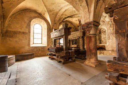 Weinkelter von Kloster Eberbach Eltville am Rhein Rheingau Hessen Germany