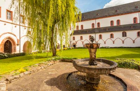 hessen: view of the monastery Eberbach cloister Eltville am Rhein Rheingau Hessen Germany