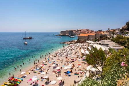 Dubrovnik Beach Travel Holiday on the Adriatic coast Croatia