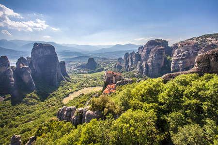 Meteora Monastery and Hills Landscape Kalambaka Greece Travel Europe