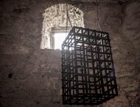 Castle torture instrument  Zipser Castle Spissky hrad Slovakia