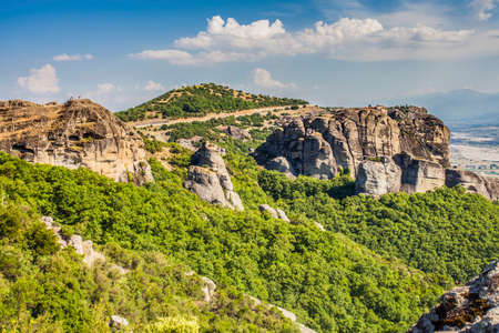 Meteora Monasteries and Hills Landscape Kalambaka Greece Travel Europe
