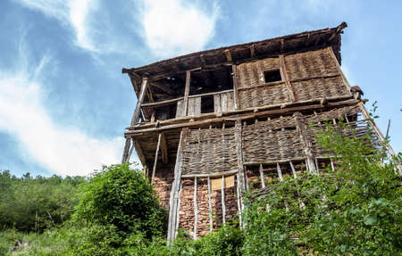 self sufficient: Old rustic houses in a village in the Country  Demir Khisar  Macedonia  Travel