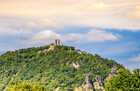 Drachenfels Castle ruins in Kuenigswinter Siebengebirge Germany