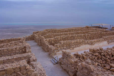 Mezada Herodes Fortress  National park  Landscape Israel and dead sea coastTravel Israel