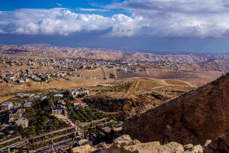 Herodium Archaeological site Herodes palace in the Judaean Mountain Country Travel Israel Stock Photo