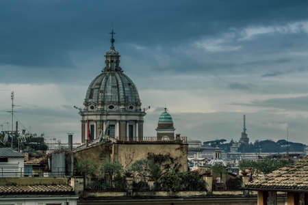 Rome varied antique  architecture ruins Italy capital City
