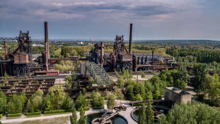 Landscape of the Landschaftspark Duisburg North Ruhrgebiet industrial culture Germany Redactioneel