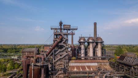 Landscape of the Landschaftspark Duisburg North Ruhrgebiet industrial culture Germany 免版税图像