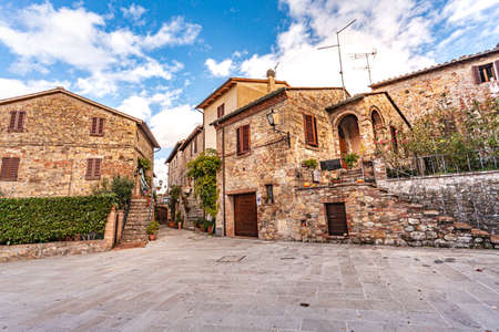 Tuscan Medieval Village Monticchiello Tuscany Italy Picturesque Villages
