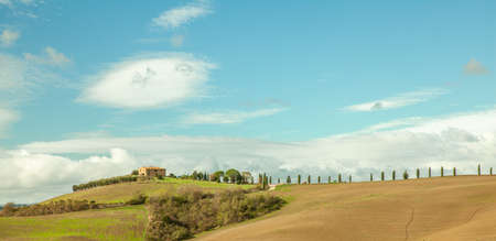 Tuscany countryside Pienza Italy Toscana Authentic Landscape  in Autumn