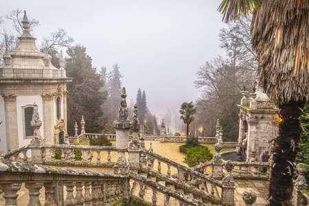 Park and Baroque stairs of the Sanctuary of Nossa Senhora dos Rem?dios Lamego Portugal