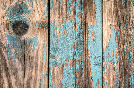 Weathered wooden Natural Background Turquoise and Brawn colors Wallpaper