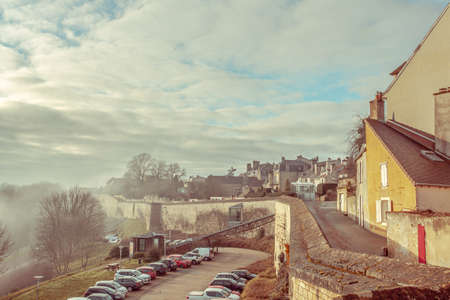 Historic  City wall promenade of Langres in Champagne Ardenne France