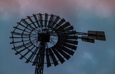 Windmill in the Duisburg Nord landscape park Industry Culture Germany Ruhr 新聞圖片