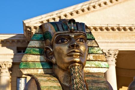 Verona - Sculptur of an Egyptian statue for a representation in the Verona
