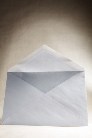 Frontal view of an envelope ready to be filled, with Clipping path included Stock Photo