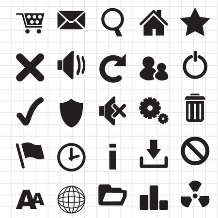 web icon internet set Vector