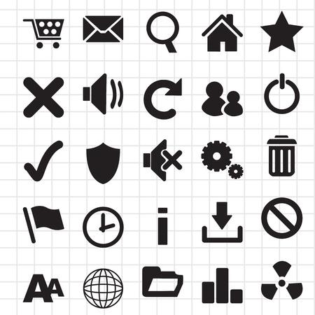 refrescarse: web icon set Internet Vectores