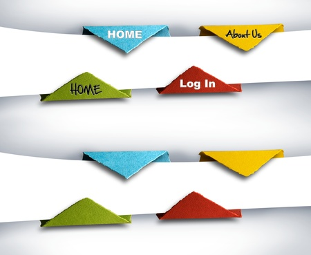Infographics photograph of a set of origami buttons or ranking elements, with or without text  you can fill the blancks with your own text   easy to crop  photo
