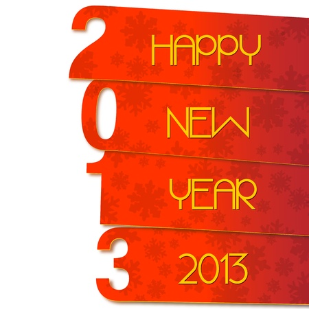 Happy New Year 2013 Stock Vector - 15648606