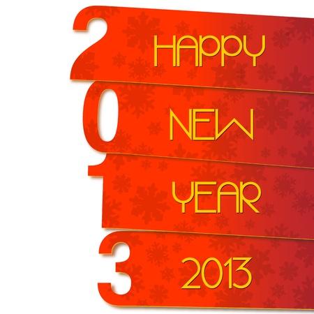 two thousand thirteen: Happy New Year 2013 Illustration