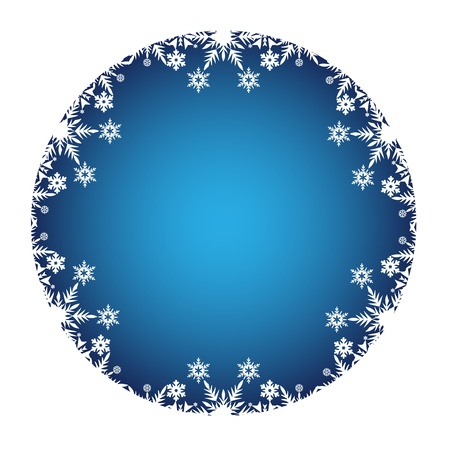 Christmas Decoration framed with white snow icons Stock Vector - 15648605