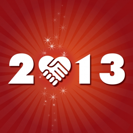 Have a friendly and lovely New Year 2013 Vector