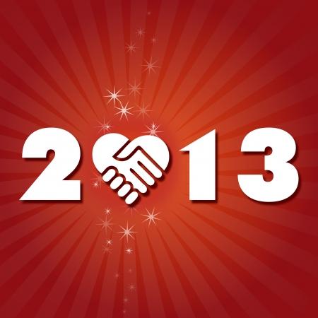 two thousand thirteen: Tenga un A�o Nuevo amable y encantador 2013 Vectores