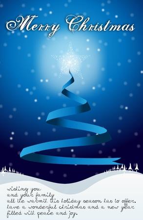 two thousand thirteen: Feliz Navidad con el �rbol, las estrellas y el texto escrito de tarjetas de Feliz Navidad con el �rbol, las estrellas y el copyspace con una mano escrito deseo texto