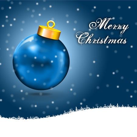 two thousand thirteen: Tarjeta de Navidad azul bola de nieve, y sin espacio en blanco copia azul Feliz Navidad tarjeta con la bola y los iconos blancos copyspace nieve wiht