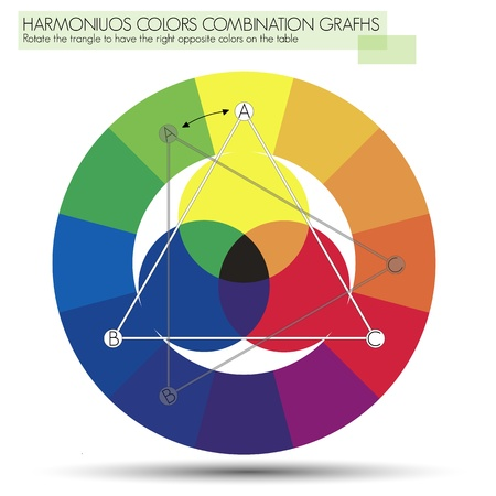 Graph for the triangle or Primary Colors Stock Vector - 15974152