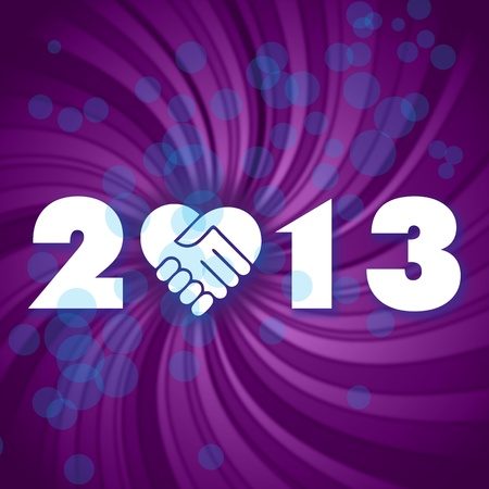 Happy new 2013 year  have a new year, happy 2013, text on a coloured fantasy background