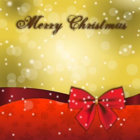 two thousand thirteen: Feliz Navidad especial dise�o y decoraci�n rojo del arco de regalo de Navidad para las tarjetas y los men�s con una gr�fica especial y elegante y un arco de regalo rojo sobre fondo de oro Vectores