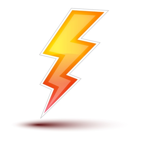 Lightning Icon Concept on white background  Lightning Icon on white background, concept button full sized