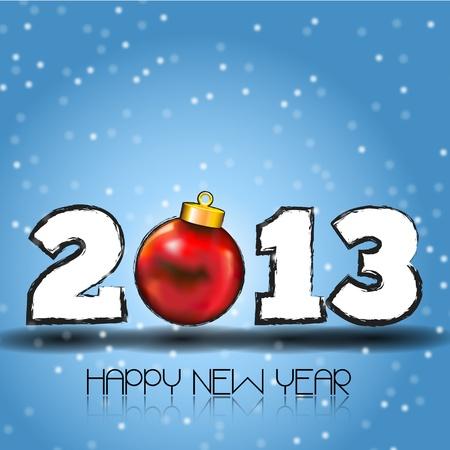 two thousand thirteen: Happy new 2013 a�os a tener un a�o nuevo, feliz 2013, texto sobre un fondo de color fantas�a