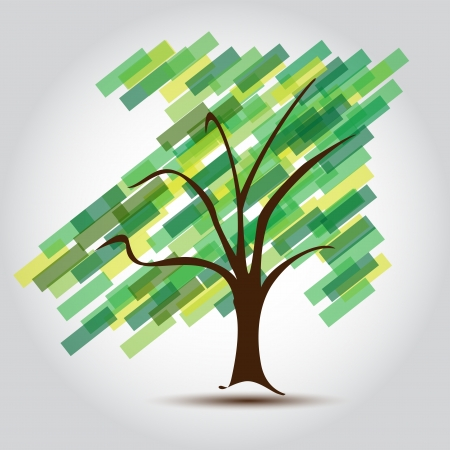 Multicolored tree for Business card  Illustration