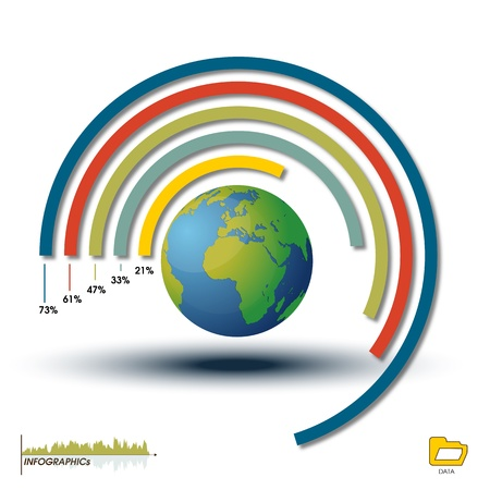 World Infographic Histogram, Chart Graphics  Infographics World Element Histogram Customizable to explain the growth of your Business International Style