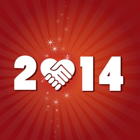 two thousand thirteen: Happy new year  2014 Illustration