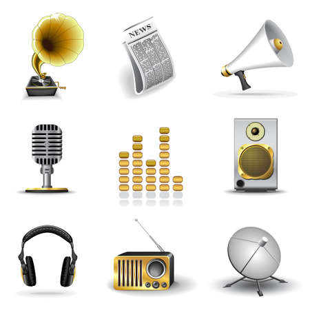 Media and music icons Stock Vector - 5763605